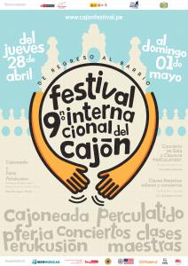 Cartel Festival Internacional Cajon
